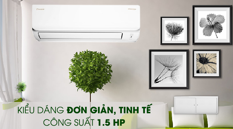 Công suất 1.5HP - Máy lạnh Daikin Inverter 1.5 HP ATKA35UAVMV