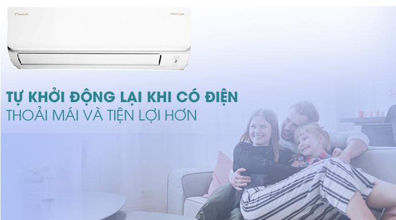 Tự khởi động lại khi có điện - Máy lạnh Daikin Inverter 1.5 HP ATKA35UAVMV