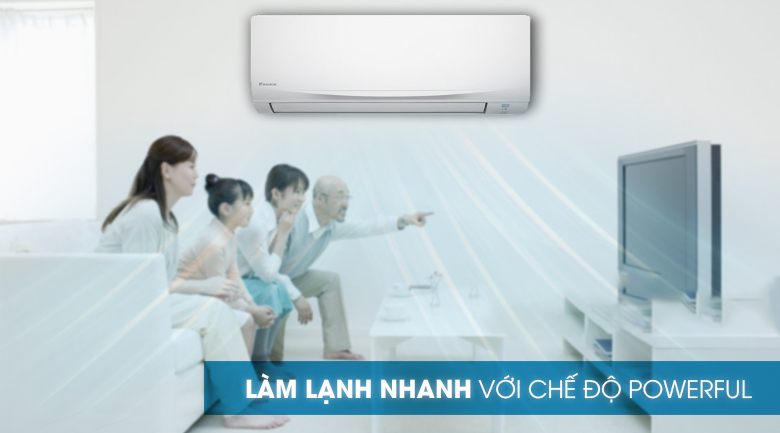 Powerful -Máy lạnh Daikin 1.5 HP ATF35UV1V