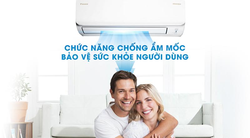Máy lạnh Daikin Inverter 2 HP FTKA50UAVMV-Bảo vệ tối ưu sức khỏe người dùng với chức năng chống ẩm mốc