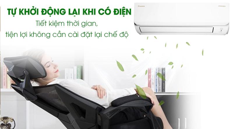 Máy lạnh Daikin Inverter 2 HP FTKA50UAVMV-Tiết kiệm thời gian với chức năng tự khởi động lại khi có điện