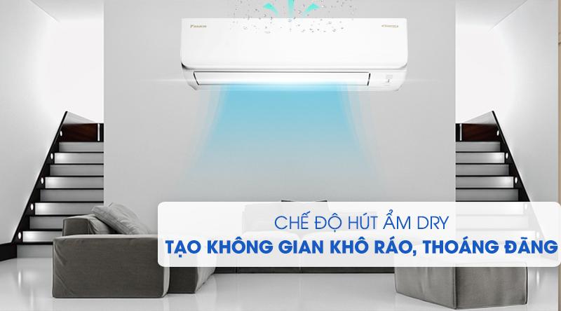 Máy lạnh Daikin Inverter 2 HP FTKA50UAVMV-Tạo bầu không gian khô ráo, thoáng đãng cùng chức năng hút ẩm