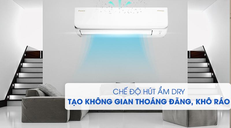Máy lạnh Daikin Inverter 2.5 HP FTKA60UAVMV-Tạo không gian thoáng đãng, khô ráo với chức năng hút ẩm