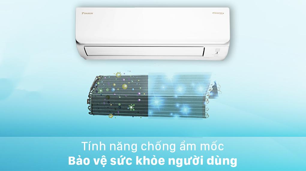 Máy lạnh Daikin Inverter 2.5 HP FTKA60UAVMV-Bảo vệ sức khỏe người dùng nhờ chức năng chống ẩm mốc
