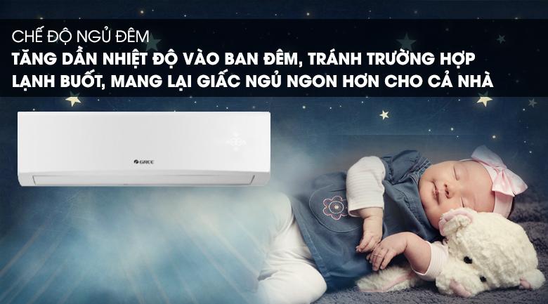 Chế độ ngủ đêm-Máy lạnh Gree 1 HP GWC09KB-K6N0C4