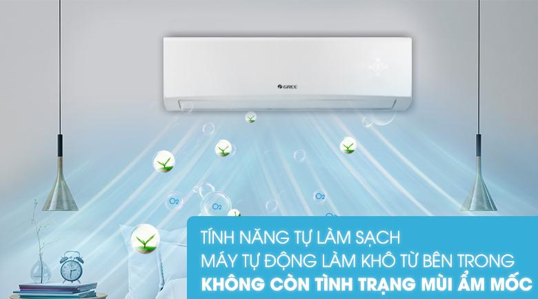 Tự làm sạch-Máy lạnh Gree 1 HP GWC09KB-K6N0C4