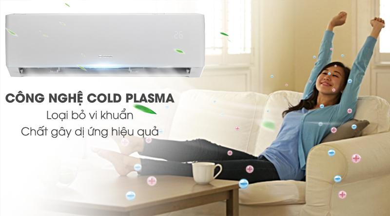 Máy lạnh Gree Inverter 1 HP GWC09PB-K3D0P4-Loại bỏ vi khuẩn, chất gây dị ứng nhờ công nghệ Cold Plasma
