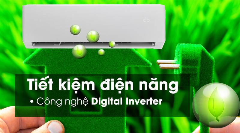 Máy lạnh Gree Inverter 1 HP GWC09PB-K3D0P4-Tiết kiệm điện hiệu quả cùng công nghệ Inverter