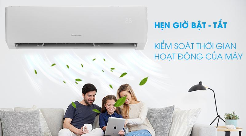 Máy lạnh Gree Inverter 1 HP GWC09PB-K3D0P4-Kiểm soát thời gian hoạt động của máy nhờ chức năng hẹn giờ