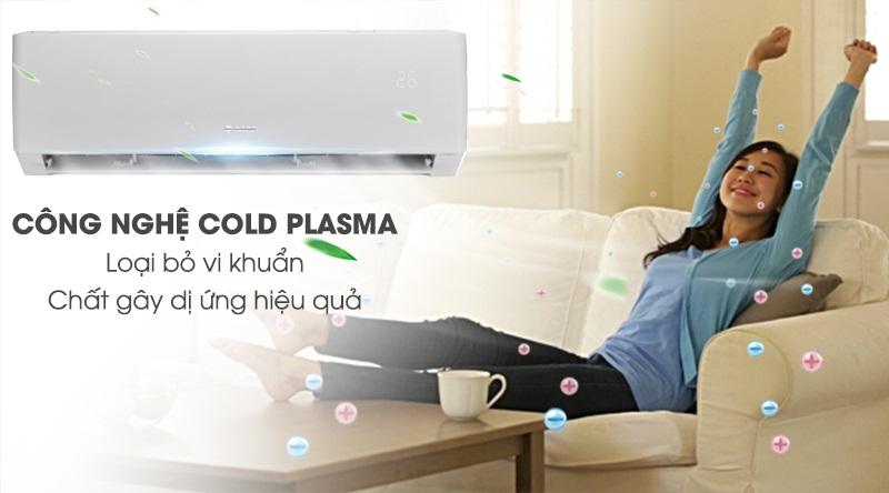 Máy lạnh Gree Inverter 1.5 HP GWC12PB-K3D0P4-Loại bỏ vi khuẩn, lọc bụi và các tác nhân gây dị ứng cùng Cold Plasma