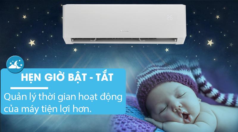 Máy lạnh Gree Inverter 1.5 HP GWC12PB-K3D0P4-Quản lý thời gian hoạt động của máy với chế độ hẹn giờ bật tắt