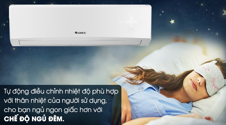 Ngủ đêm - Máy lạnh Gree 1.5 HP GWC12KC-K6N0C4