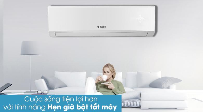 Hẹn giờ bật tắt máy - Máy lạnh Gree 1.5 HP GWC12KC-K6N0C4