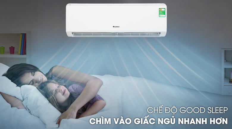 Chế độ ngủ đêm-Máy lạnh Gree 2 HP GWC18KD-K6N0C4