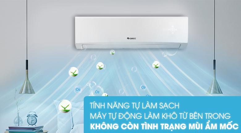 Tự làm sạch-Máy lạnh Gree 2 HP GWC18KD-K6N0C4