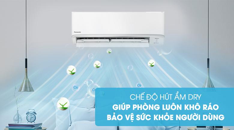 Máy lạnh 2 chiều Panasonic Inverter 9040 BTU CU/CS-YZ9WKH-8-Không gian khô ráo, bảo vệ sức khỏe người dùng nhờ chức năng hút ẩm
