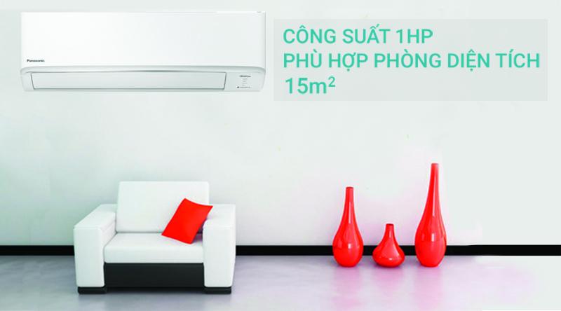 Máy lạnh 2 chiều Panasonic Inverter 1 HP CU/CS-YZ9WKH-8-Công suất 1 HP, phù hợp cho diện tích căn phòng dưới 15 mét vuông