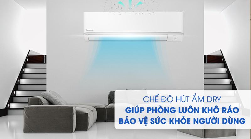 Máy lạnh 2 chiều Panasonic Inverter 1 HP CU/CS-YZ9WKH-8-Không gian khô ráo, bảo vệ sức khỏe người dùng nhờ chức năng hút ẩm