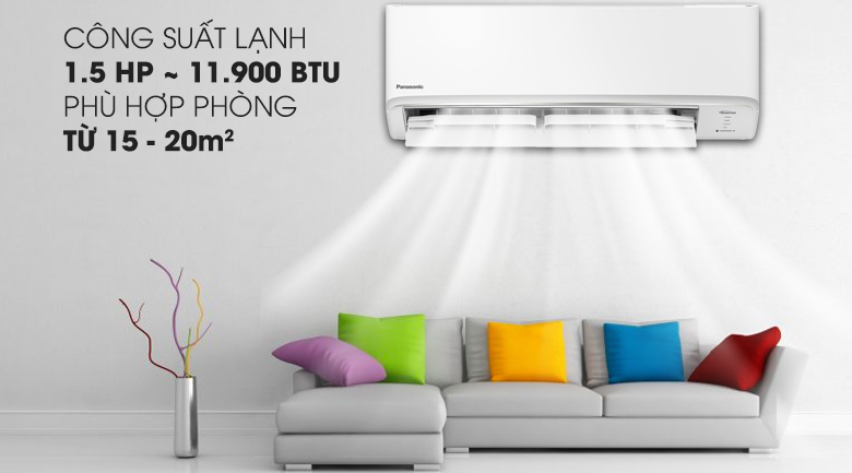 Công suất làm lạnh:1.5 HP - 11.900 BTU