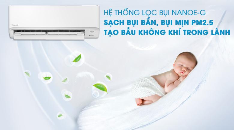 Bầu không khí trong lành, sạch bụi bẩn, bụi mịn PM2.5 cùng công nghệ Nanoe-G