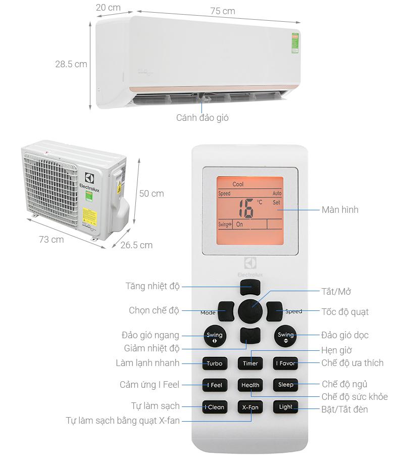 Thông số kỹ thuật Máy lạnh Electrolux Inverter 1 HP ESV09CRR-C6