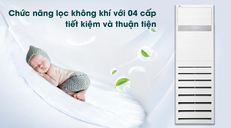 Máy lạnh Tủ đứng LG Inverter 2.5 HP APNQ24GS1A4 - Chức năng lọc không khí với 04 cấp