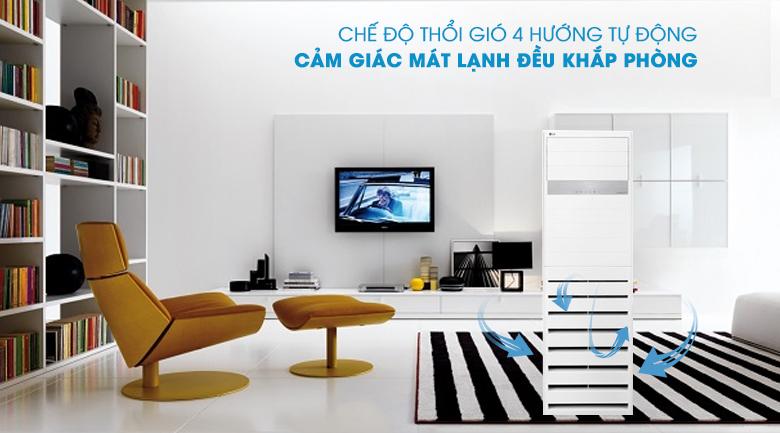 Máy lạnh Tủ đứng LG Inverter 2.5 HP APNQ24GS1A4 - Thổi gió 4 chiều tự động