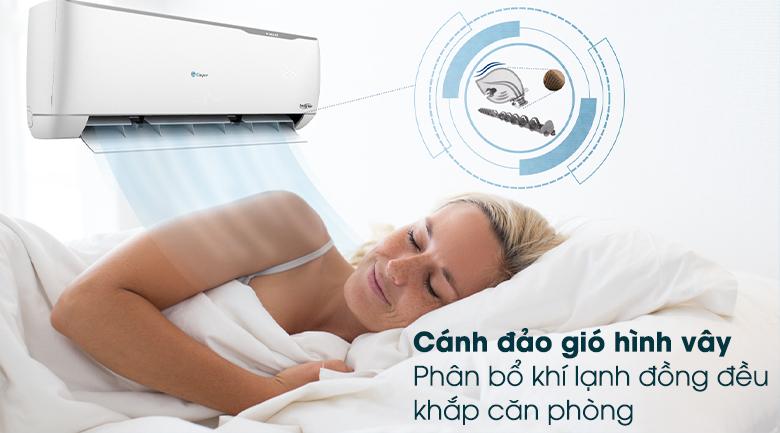 Máy lạnh 2 chiều Casper Inverter 1 HP GH-09TL32 - Cánh đảo gió