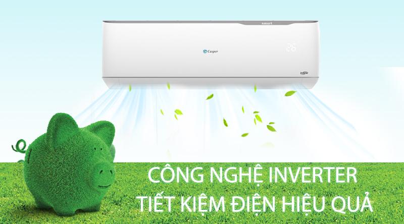 Máy lạnh 2 chiều Casper Inverter 1.5 HP GH-12TL32-Hiệu quả tiết kiệm điện cao nhờ công nghệ Inverter
