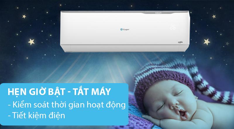 Máy lạnh 2 chiều Casper Inverter 1.5 HP GH-12TL32-Kiểm soát thời gian sử dụng, tiết kiệm điện với chức năng hẹn giờ bật tắt máy