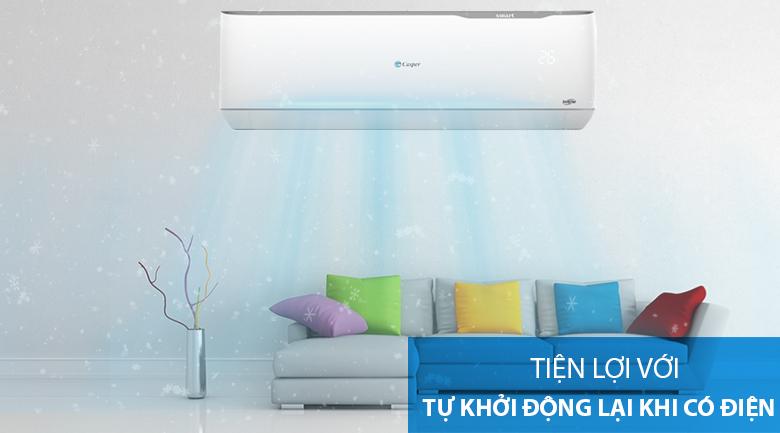 Máy lạnh 2 chiều Casper Inverter 1.5 HP GH-12TL32-Tiện lợi cùng chức năng tự khởi động lại khi có điện