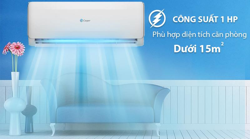 Máy lạnh 2 chiều Casper 1 HP EH-09TL22-Công suất 1HP, phù hợp cho diện tích dưới 15m2
