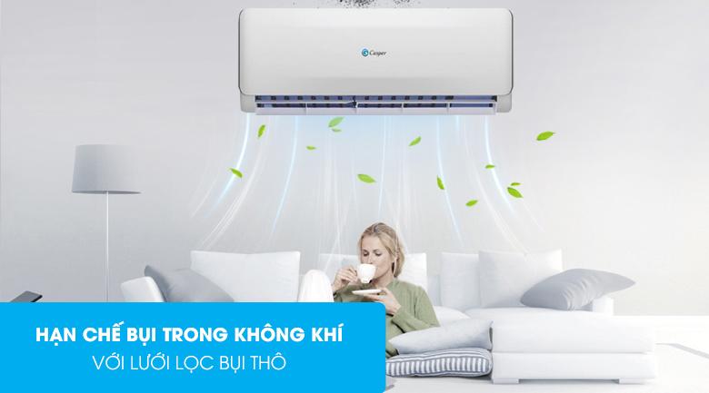 Máy lạnh 2 chiều Casper 1 HP EH-09TL22-Loại bỏ bụi bẩn và kháng khuẩn hiệu quả với lưới lọc bụi thô