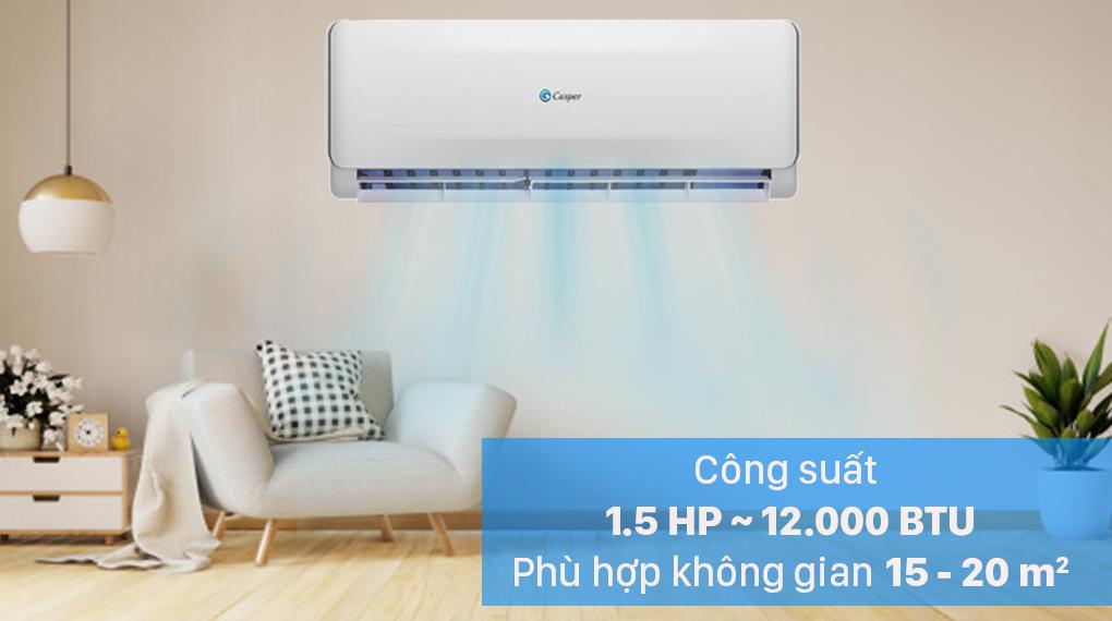 Máy lạnh 2 chiều Casper 1.5 HP EH-12TL22 - công suất