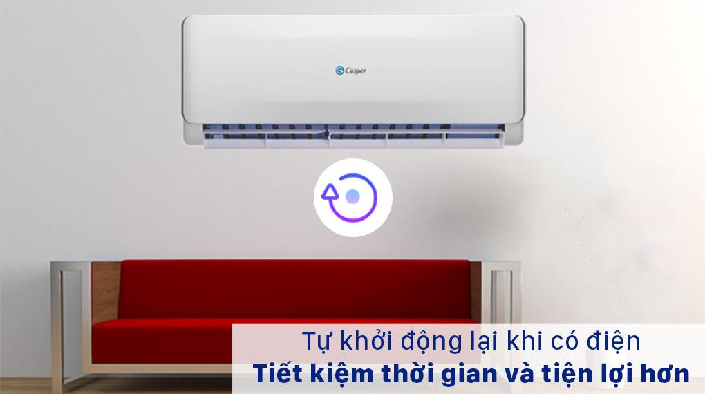 Máy lạnh 2 chiều Casper 1.5 HP EH-12TL22 - Khởi động