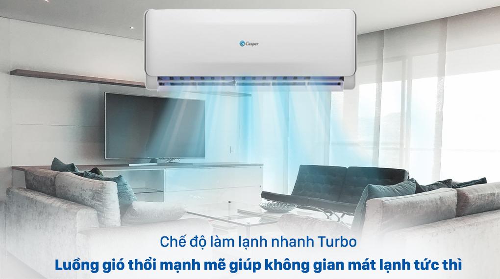 Máy lạnh 2 chiều Casper 1.5 HP EH-12TL22 - Turbo