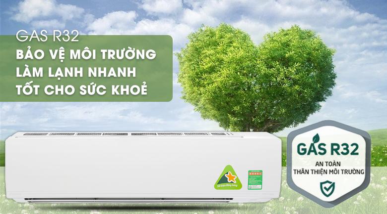 Sử dụng Gas R32 thân thiện với môi trường