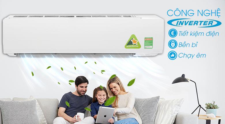 Công nghệ Inverter giúp máy lạnh vận hành bền bỉ và tiết kiệm điện