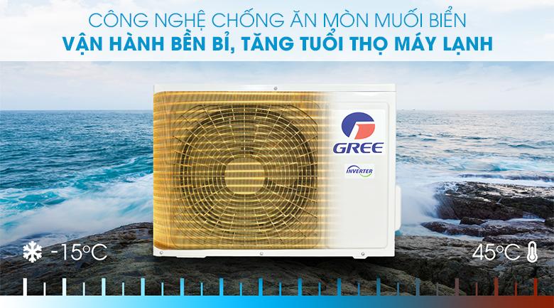 Máy lạnh Gree Inverter 2 HP GWC18PC-K3D0P4 - Công nghệ chống ăn mòn muối biển