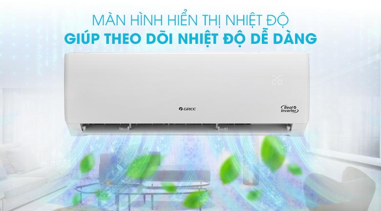 Máy lạnh Gree Inverter 2 HP GWC18PC-K3D0P4 - Màn hình hiển thị nhiệt độ tiện lợi