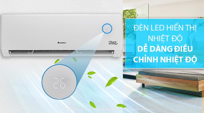 Máy lạnh Gree GWC24PD-K3D0P4 - đèn led hiển thị nhiệt độ
