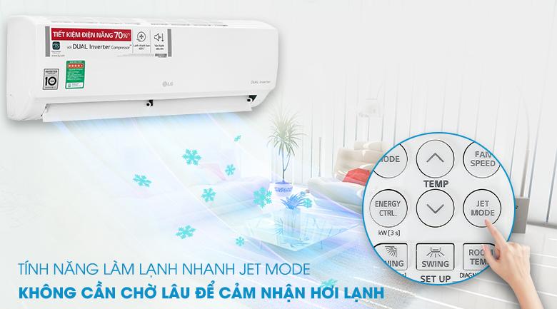 Máy lạnh LG V10ENH1 - Jet mode