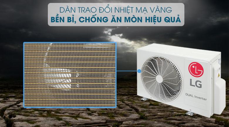 Máy lạnh LG V10ENH1 - dàn tản nhiệt mạ vàng
