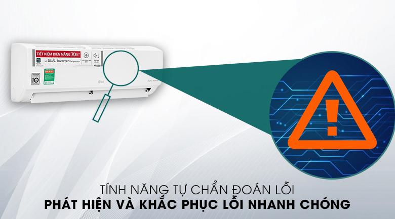Máy lạnh LG Inverter 9200 BTU V10ENH1 - Chẩn đoán lỗi