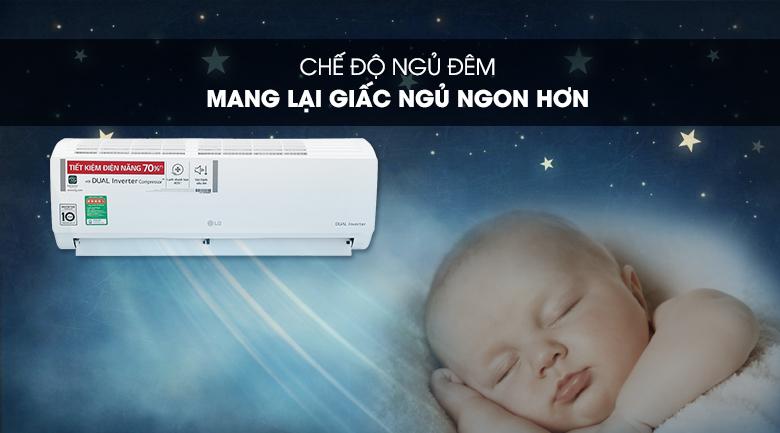 Máy lạnh LG Inverter 9200 BTU V10ENH1 - Ngủ đêm