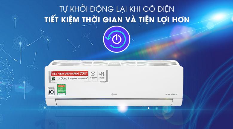 Máy lạnh LG V13ENH1 - Tự khởi động khi có điện