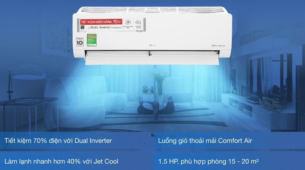 Máy lạnh LG Inverter 1.5 HP V13ENH1