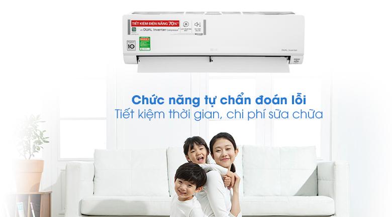 Máy lạnh LG Inverter 9200 BTU V10API1 - Chẩn đoán lỗi