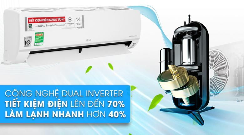 Máy lạnh LG Inverter 1.5 HP V13API1 - Công nghệ Dual Inverter tiết kiệm điện