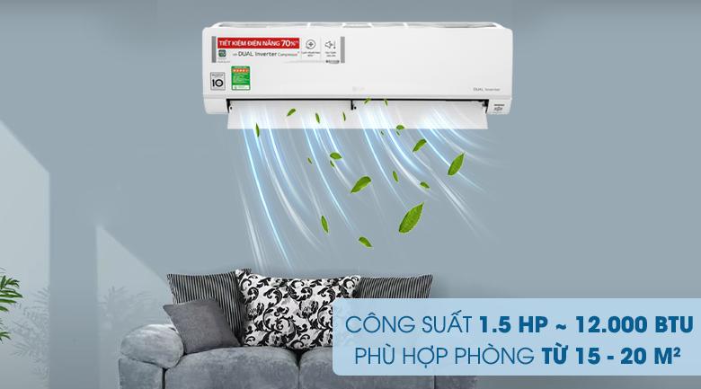Máy lạnh LG Inverter 1.5 HP V13API1 - Công suất 1.5 HP phù hợp phòng có diện tích từ 15 - 20 m2
